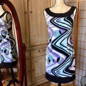 Dressbarn Business Casual Geometric Shift Dress 8